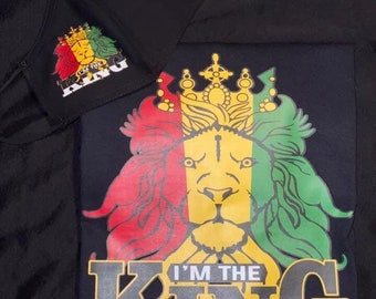 I am The King T shirt  with matching mask, Adult,Free Shipping ,Nubian Sensations