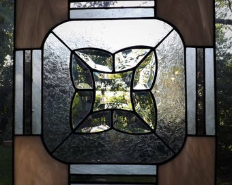 Beveled Glass Simple Victorian Stained Glass Panel