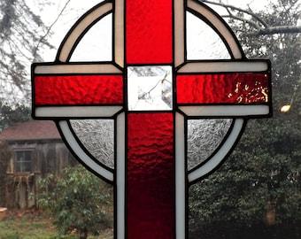 Royal Red Celtic Cross hanger