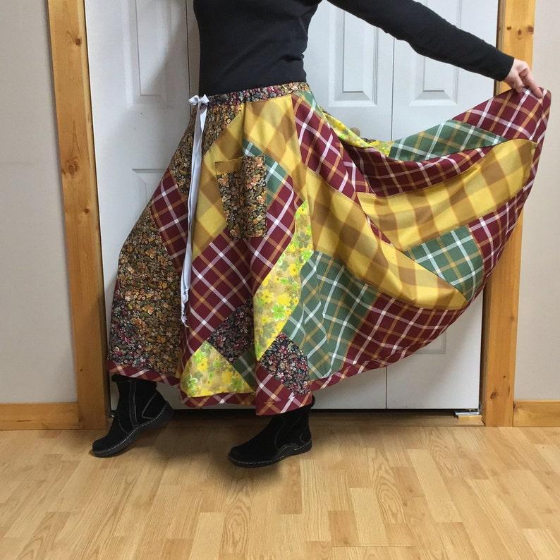 cbdc8c32972 Hippie Patchwork Skirt Midi Plus Size Circle Skirt with