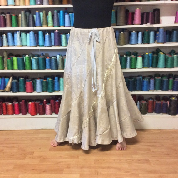 02cb33dfb6 Autumn Bridal Maxi Skirt Long Brocade Skirt Rustic Wedding