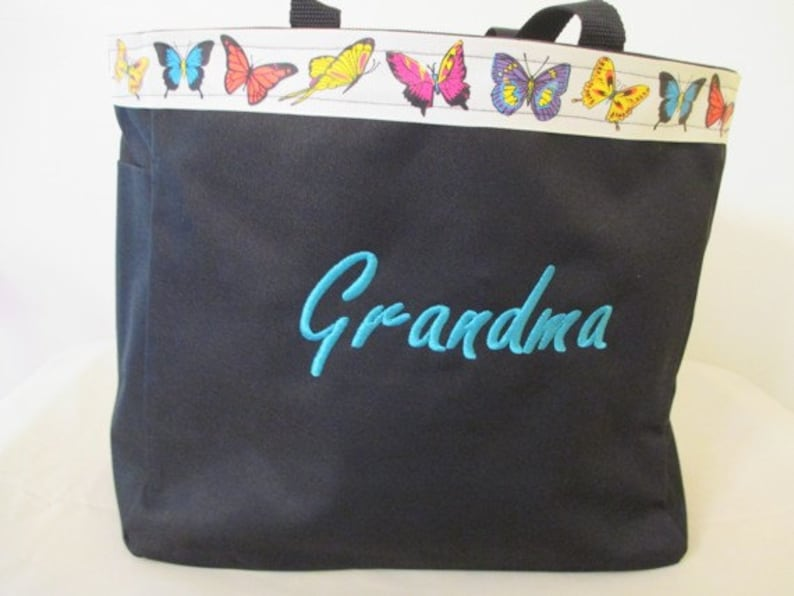 Carrier Grandma Personalized Tote Bag Embroidered Grandparent