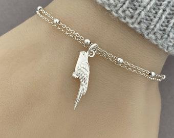 Sterling Silver Parrot Bird Bracelet