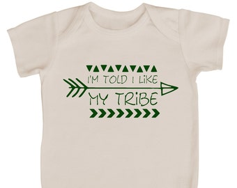 I'm Told I Like My Tribe Silhouette Baby Bodysuit