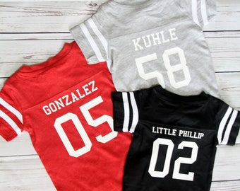 c0297d86fa8 Custom Cotton Football Sport Jersey Baby Bodysuit Personalized with Name    Number-Back Only