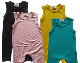 9e351ce87 Baby Romper for Boys and Girls--Sleeveless--Boy, Girl, Gender Neutral,  Trendy, Baby Shower gift, newborn gift