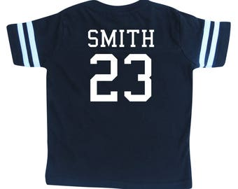 Custom Cotton Football Sport Jersey Toddler and Child Personalized with  Name and Number-Back Only-Toddler Gift 9955030f6