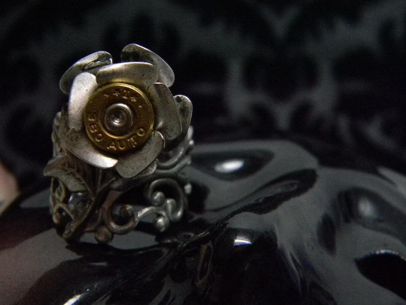 Callie Petite Rose Bullet Jewelry Bullet Ring Bohemian Bullet image 0