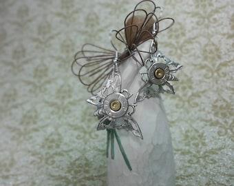 Emmy Butterfly 38 Special Bullet Jewelry Bullet Earrings