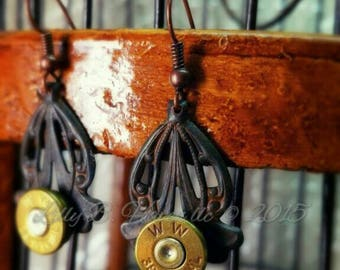 Abby Bullet Jewelry Bullet Earrings Chocolate Patina 38 Special 357 Magnum