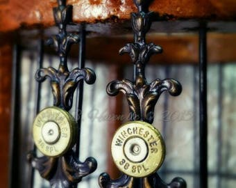 Abigail Bullet Jewelry Bullet Earrings Chocolate Patina 38 Special