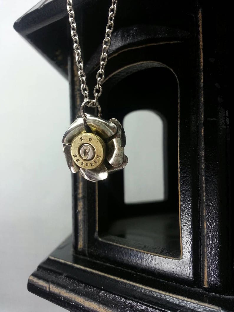 Audrey Petite Rose Bullet Jewelry Bullet Necklace Lilly B image 0