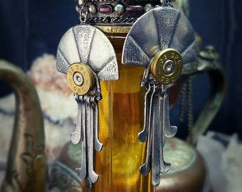 Drysanna Bullet Jewelry Bullet Earrings 38 357 Bohemian Bullet Warrior Guardian Collection