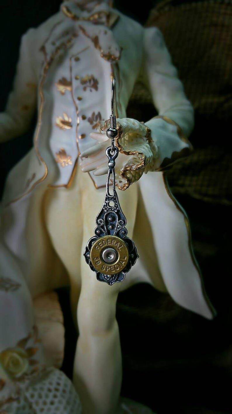 Dagney Bullet Jewelry Bullet Earrings 38 357 Bohemian Bullet image 0