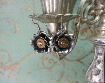 Amy Sterling Silver Plated Rose  Bullet Jewelry Bullet Earrings Lilly B Haven Original