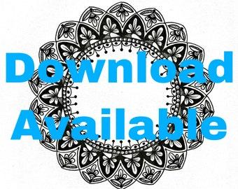 Circle Mandala Original Doodle Art Download