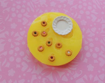 Dollhouse Cookies, Miniatures Mold, Mini Sweets Mold, Tiny Cookies, Silicone Mold, Plate Mold, Miniatures, Resin Mold, Polymer Clay Mold