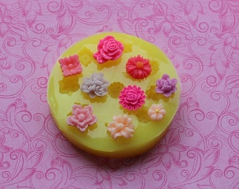Silicone Mold, Tiny Flower Mold, Silicone Flower Molds, Small Flower, Daisy, Rose, Resin Molds, Chocolate Flowers, Polymer Clay, Soap