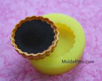 Pie Crust Mold Dollhouse Food Tiny Food Kawaii Cabochon Mold Decoden Cute Food Biscuit Resin Cookies Mold Polymer Clay Mold