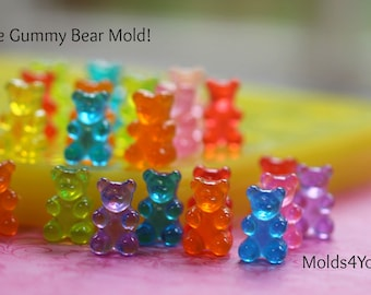 Gummy Bear Mold Silicone Fake Sweets Mold Chocolate Soap DIY Charms Gummy Wax Melts Polymer Clay Sweets DIY Jewelry Cabochons