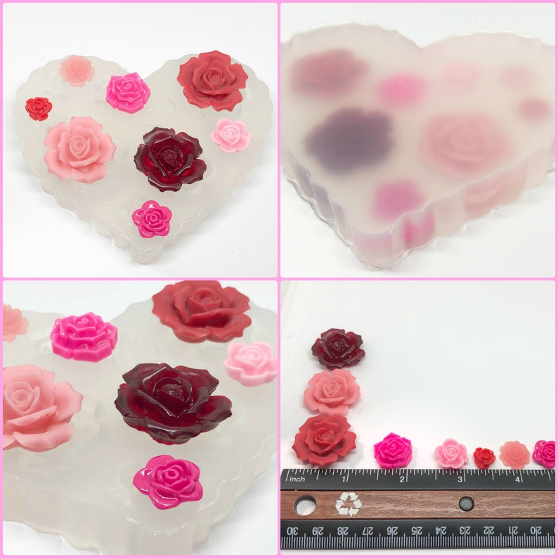 Silicone Mold Chocolate Polymer Clay Jewelry Soap Wax Resin Rose M