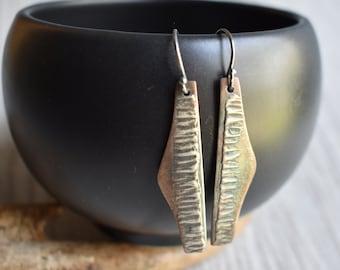 Tiger Stripe Earrings in Sterling Silver