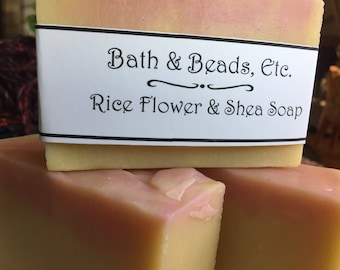 Rice Flower and Shea Handmade Soap