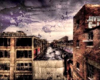 "Detroit landscape. Abandoned Building, Surreal Fine Art  ""Packard Plant"""