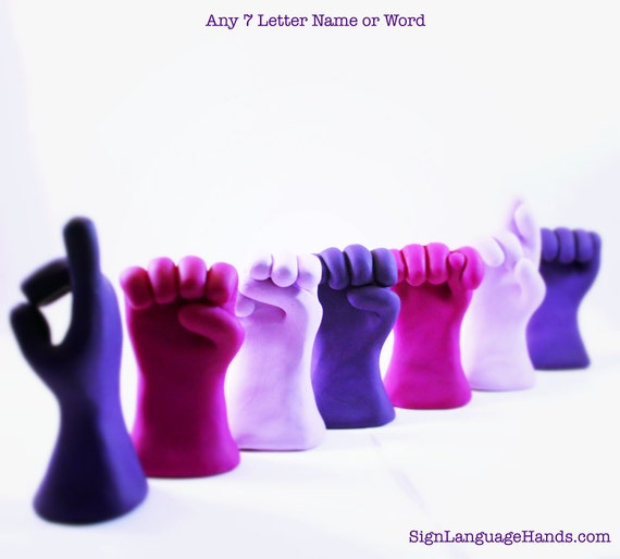 ASL für Skulpturen Buchstaben Lehrer wählen tolles nennen 7 sieben Buchstaben einem Wort Gebärdensprache beliebigen Lehrer Geschenk oder in Word rCtdhQBsx
