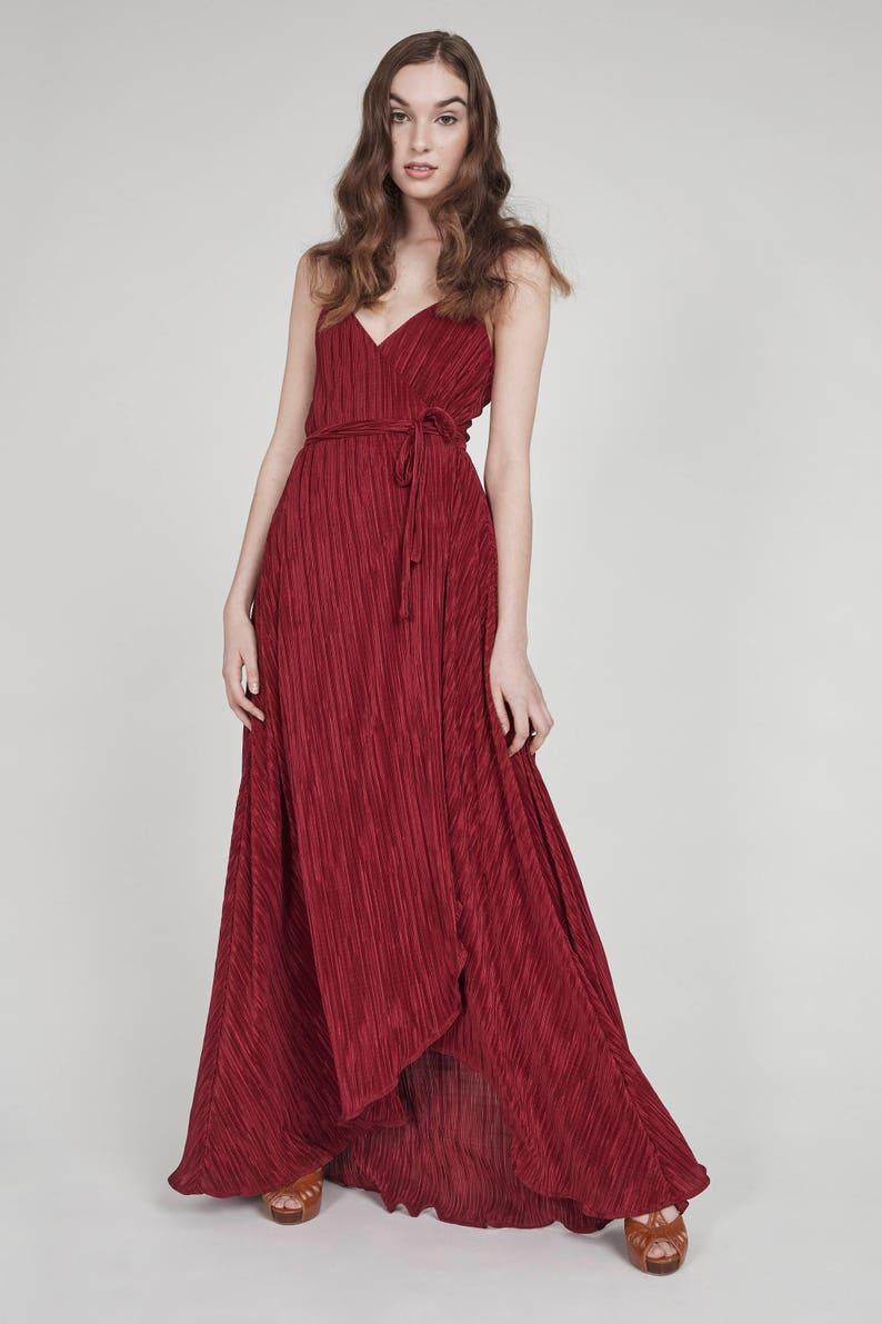 Drama queen deep red wrap dress