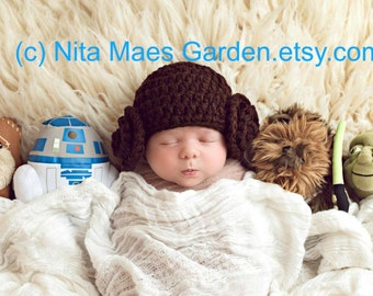 Star Wars Baby Leia Hat Leah Newborn 3m 6m Crochet Baby Girls Photo Prop Baby Clothes Daddys Fathers Gift So Cute Easter Gift