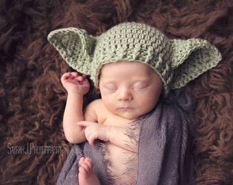 926cc7fb5f1 Baby Yoda Hat STAR Wars Preemie Newborn 0 3m 6m Crochet Photo Prop Baby  Clothes Boys Girls Gender Neutral Daddys Fathers Day Gift So Cute