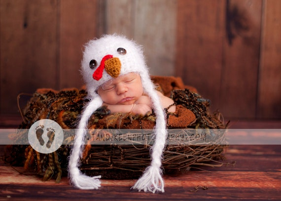 Türkei Babymütze Neugeborene 0 3m flauschige Küken häkeln | Etsy