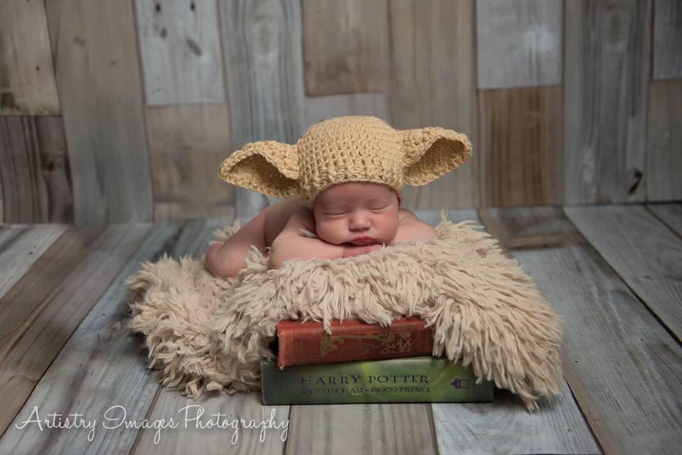 Elf Hat Dobby Hut Größe Neugeborene 0 3m 6m häkeln Foto Prop | Etsy