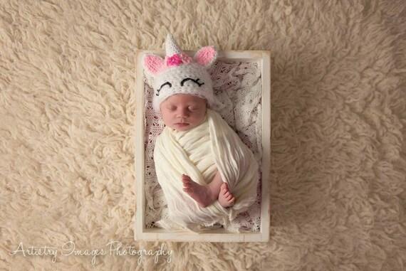Baby Unicorn Hat Preemie Newborn 0 3m 6m Halloween Costume Pony Crochet  Photo Prop Baby Clothes Boy Girl Gender Neutral SUPER SOFT U0026 CUTE
