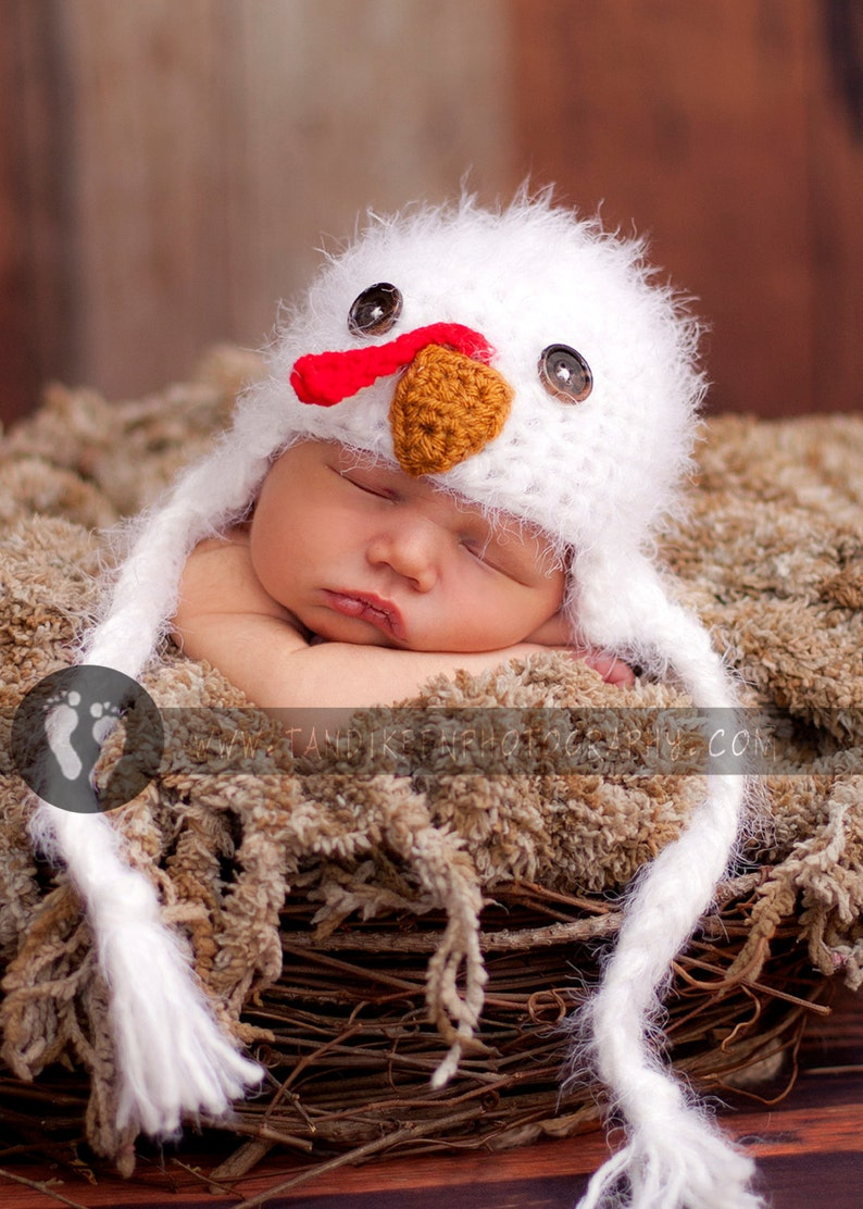 f1910f30fc236 Baby Turkey Hat Newborn 0 3m Baby Fuzzy Easter Chick Crochet Soft Animal  Photo Prop Clothes Boys Girls Farm SOFT Perfect Year Round