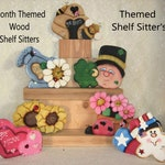 Reserved For Kristin,Themed Wood Shelf Sitters, Handcrafted Shelf Decor, Unique Wood Decor, Whimsy Home Accents