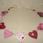 Reserved For Kristin, Valentine Garland, Wood Heart Garland