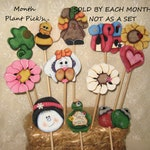 Special Order For Kristin, Plant Pick's, Wood Plant Poke's, Themed Plant Pick's, Whimsical Plant Picks