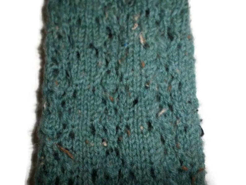 Hand Knit Women/'s Green Tweed Socks Casual Socks Size 7-8 Socks