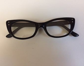 8b315000578 Vintage Black Cat Eye Eyeglasses