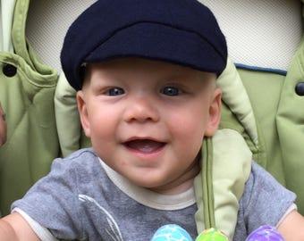 Cute Navy Blue Wool Child's Cap
