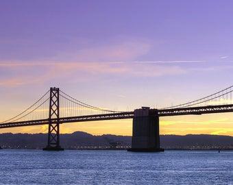 San Francisco Bay Bridge at Sunrise - Fine Art Print