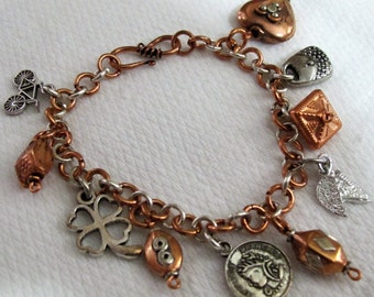 Silver & Copper Charm Bracelet 1