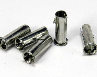 Steel nib insert for dip pens - globus holder - dip pen ferrule - fountain pen nib ferrule for calligraphy nibs - metal insert globus holder