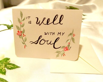 Hand-painted Sympathy Card