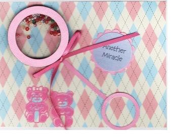 Bébé cartes - 2 variations-2 Shaker pour garçons et filles--chaleureux voeux carte-livraison gratuite aux Etats-Unis