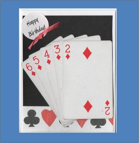 Birthday Card Games Cards Pinochle Bridge Samba Etsy