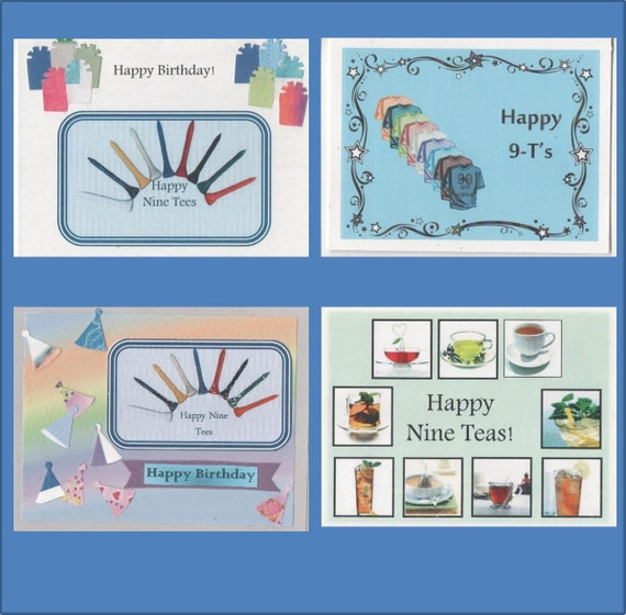 90th Birthday Cards Milestone Card 4 Variations Free