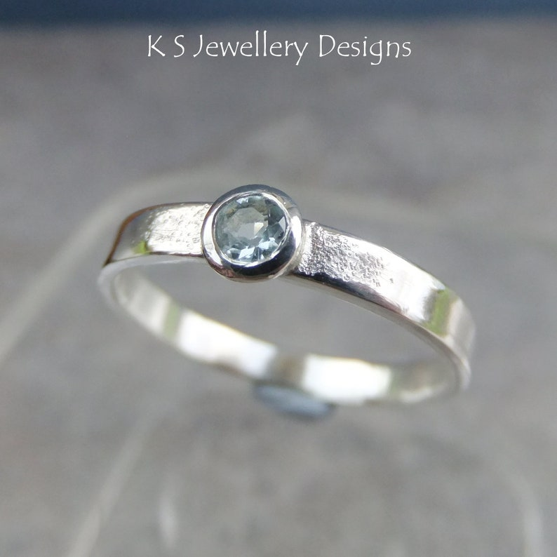 Sky Blue Topaz Sterling Silver Ring size P  size 7.75 Sparkling /& Textured READY TO SHIP can be re-sized slightly larger